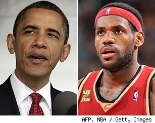Barack Obama and LeBron James