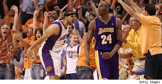 Jared Dudley and Kobe Bryant