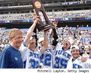 Duke Lacrosse ncaa national champions championship beat notre dame notre dame lose