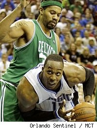 Dwight Howard and Rasheed Wallace