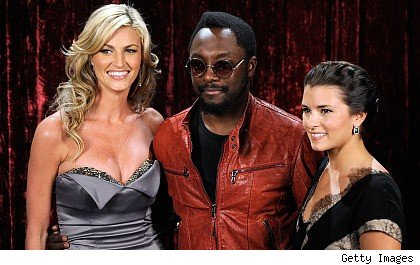 Erin Andrews, will.i.am. and Danica Patrick
