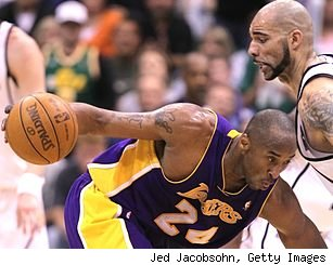 Kobe Bryant and Carlos Boozer