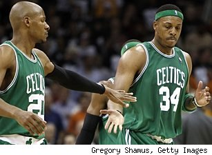 Ray Allen and Paul Pierce