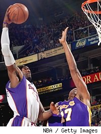 Amar'e Stoudemire and Andrew Bynum