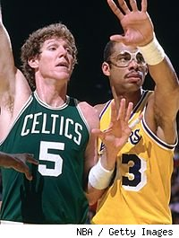 Bill Walton and Kareem Abdul-Jabbar
