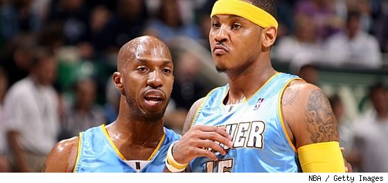 Chauncey Billups and Carmelo Anthony