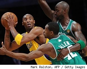 Kobe Bryant, Kevin Garnett and Tony Allen