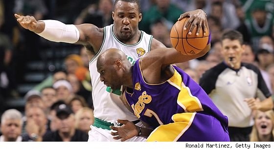 Glen Davis and Lamar Odom