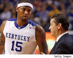 DeMarcus Cousins and John Calipari