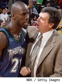 Kevin Garnett and Kevin McHale in 2005
