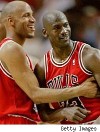 Ron Harper and Michael Jordan