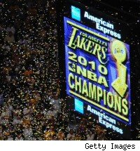 Lakers celebrations