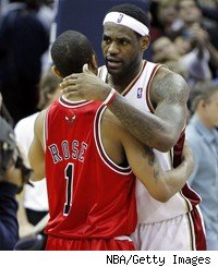 LeBron James, Derrick Rose