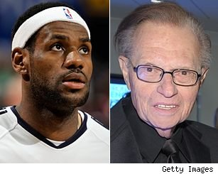 LeBron James and Larry King