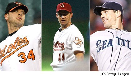 Kevin Millwood / Roy Oswalt / Cliff Lee