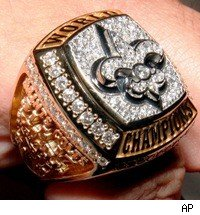 Saints Super Bowl ring