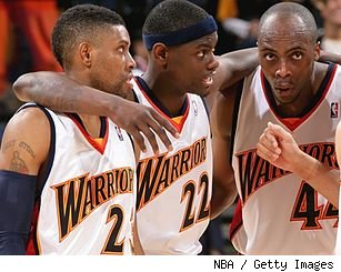 C.J. Watson, Anthony Morrow and Anthony Tolliver