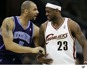 Carlos Boozer and LeBron James