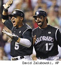 Carlos Gonzalez and Todd Helton