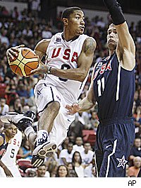 Derrick Rose impresses for USA Basketball