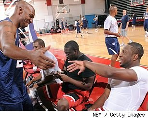 Chauncey Billups and Dwyane Wade