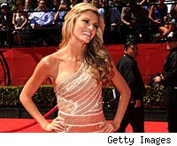 Erin Andrews on the red carpet at the ESPY awards.