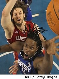 Pau Gasol and Chris Bosh
