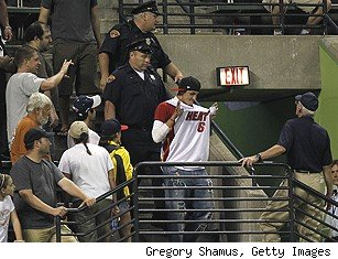 Miami Heat LeBron James fan at Indians game