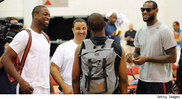 Dwyane Wade, Chris Paul and LeBron James