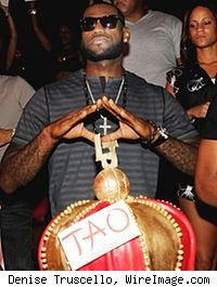 LeBron James at Tao in Las Vegas