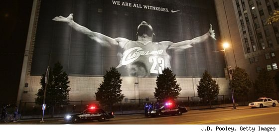 LeBron James Witness sign