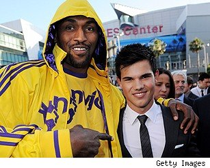 Taylor Lautner Ron Artest