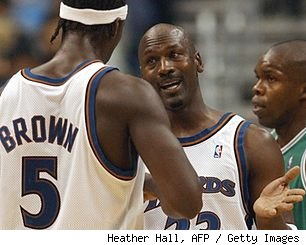 Kwame Brown and Michael Jordan, 2002
