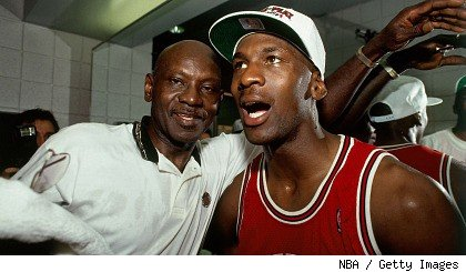 Michael Jordan and his father