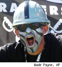 Raiders blacked out