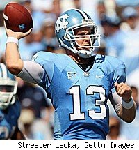 T.J. Yates North Carolina quarterback