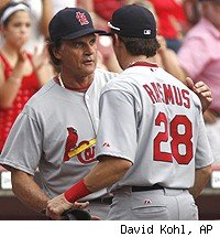 Tony La Russa and Colby Rasmus