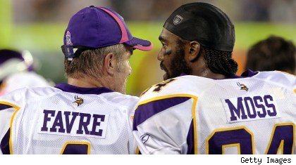 Brett Favre and Randy Moss