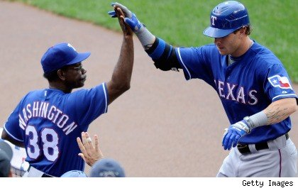 Ron Washington and Josh Hamilton