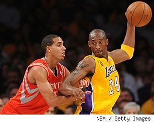Kobe Bryant and Kevin Martin