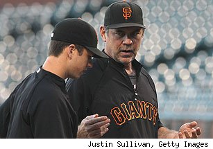 Buster Posey and Bruce Bochy