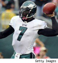 Michael Vick rib injury Eagles Redskins
