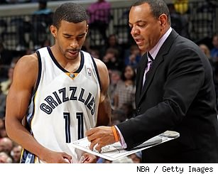 Mike Conley and Lionel Hollins