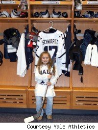 Giana Cardonita in front of Mandi Schwartz's locker