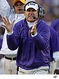 Les Miles LSU Alabama