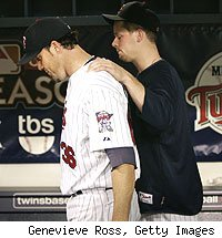 Joe Nathan and Justin Morneau