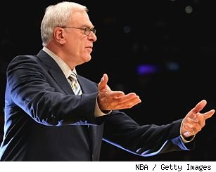 LA Lakers coach Phil Jackson