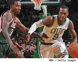 Brandon Jennings and Rajon Rondo