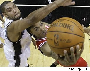 Tim Duncan and Derrick Rose