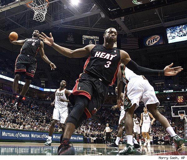 LeBron James and Dwyane Wade photo